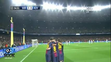Вълшебна Нощ За Футбола! Барселона - Милан 4:0 (общ резултат 4:2)