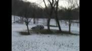 Audi allrod offroad na sneg