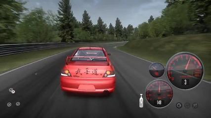 Evo дига повече от 500km/h в Need For Speed Shift 2