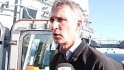 Greece: Stoltenberg visits NATO ship patrolling the Aegean Sea