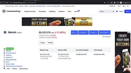 Why Aeron has created the Arnx token?