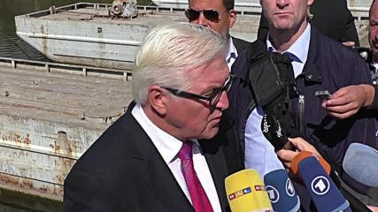 Ukraine: FMs Steinmeier and Ayrault arrive at OSCE base in Kramatorsk