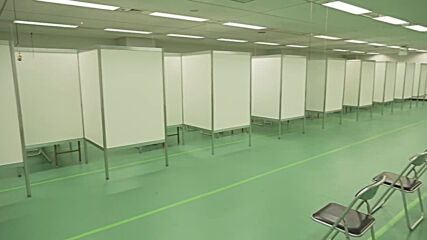Japan: Large-scale SDF COVID vaccination centre prepares to open its doors in Tokyo