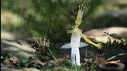 Как се прави градински трон - дърводелски мюзикъл (картонена анимация и направи си сам видео)
