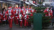 Хиляди, облечени като Дядо Коледа, бягаха благотворително (ВИДЕО)