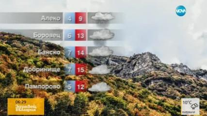 Прогноза за времето (26.10.2016 - сутрешна)