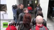 """""""Нощните вълци"""" отдават почит пред дома на Мая Плисецкая в Мюнхен"""