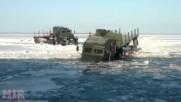 Руските камиони не се нуждаят от мостове, нямат спиране и минават навсякъде!