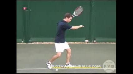 Тенис уроци : Форхенд | Замах за контакт