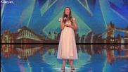 Момиче спира дъха на журито с невероятното си изпълнение - Britain's Got Talent 2015