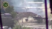 Сирийски танк стреля точно в камерата на ислямистките бунтовници