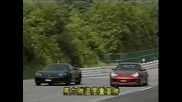 Драг Ferrari F360 Modena Vs 996 Turbo