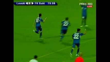 Левски - Баку 2:0,  3ти предварителен кръг на Шл