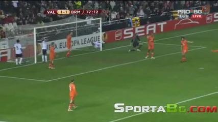 Валенсия 1 - 1 Вердер Бремен 1/8 - финал Лига Европа (11.03.2010.)