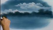 S11 Радостта на живописта с Bob Ross E06 - хамбар в овал ღобучение в рисуване, живописღ