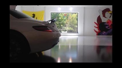 Супер шумен Mercedes-benz Sls и високи обороти