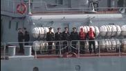 Syria: Moskva, flagship of Black Sea Fleet, guards Russian jets over Latakia