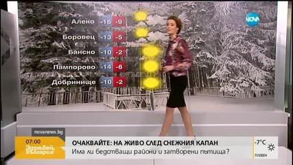 Прогноза за времето (19.01.2016 - сутрешна)
