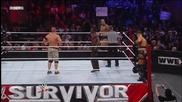 Скалата и Сина срещу Миз и Трут - Wwe Survivor Series 2011 - част 2/3