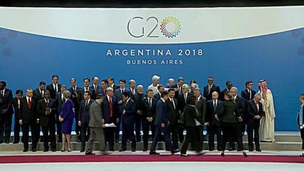 Аржентина: Лидерите застават за обща снимка на Г20