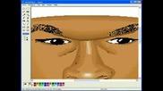 Рисуване На 50 Cent Със Paint