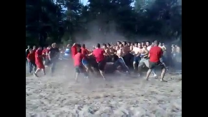 (ukraine)_mahach_ Fight foodball hooligans Fc Cska(kiev) vs
