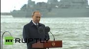 Russia: Putin praises the Navy, calling it 'the pride of Russia'