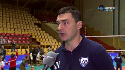 Мнението на Николов след поражението на ВК Левски от Нехтохимик