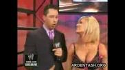 Ashley Massaro дава интервю след завръщането си