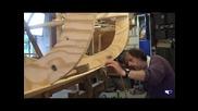 Пасване на летви. Дървена лодка