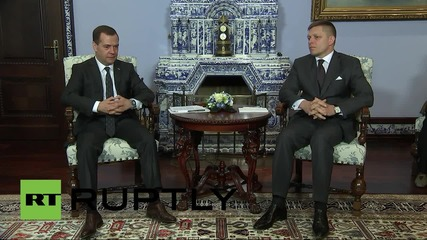 Russia: Medvedev and Slovak PM Robert Fico talk bilateral ties
