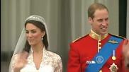целувката на балкона на Кейт Мидълтън и Принц Уилям