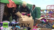 Унгария: Бежанците се подготвят за студено време в лагера Рьоске