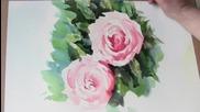 Рисуване на розови рози с акварел / Trevor Waugh/