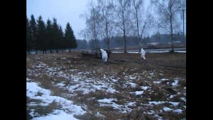 Упражнения с наборници в 4-та самостоятелна танкова бригада