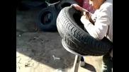 Как дете демонтира/монтира гума от джанта за автомобил!