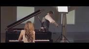 """Песента """"алелуя"""" изсвирена на пиано и цигулка"""