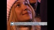 Актрисата Хейдън Панетиери окуражи протестиращите в Киев с пламенна реч