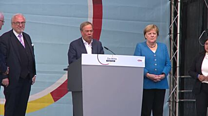 Germany: Merkel and Lachet make final plea against left-govt in final rally together