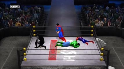 Wwe '12_ Batman vs Superman vs Spider-man vs The Incredible Hulk vs Captain America vs Hulk Hogan