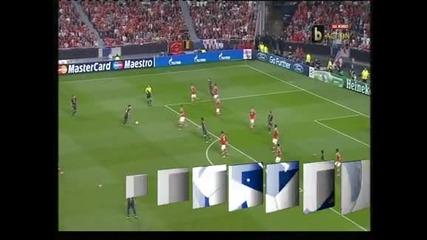 """Меси даде два голови паса, """"Бенфика"""" - """"Барса"""" 0-2"""