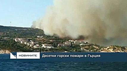 Десетки горски пожари в Гърция