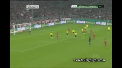 Байерн Mюнхен 1:0 Борусия Дортмунд гол на Ариен Робен