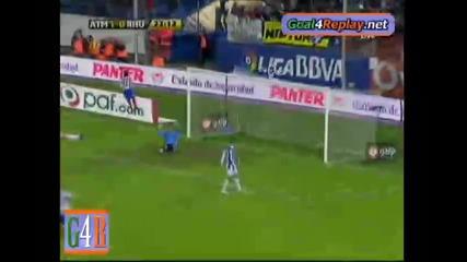 Atletico Madrid - Recreativo Huelva 5:1 Кун Агуеро първи гол !