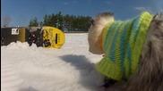 Опосум на Сноуборд