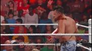 Джон Сина пребива и унижава жестоко Майкъл Кол - Raw 04.06.2012