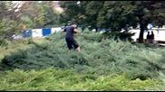 Зверска катастрофа в храста пред Ндк (каде ми е колелото)