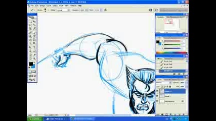Как Да Нарисуваме Wolverine С Photoshop