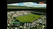 Wimbledon - Federer - Hrbaty - 3:1 Трети Сет!