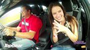Топ Гиър взима красивата мис Симон де Кок с новия Форд Фокус